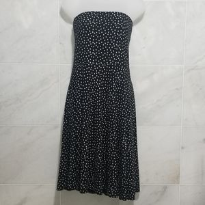 Ann Taylor Polka Dot Tube Top Fit And Flare Dress